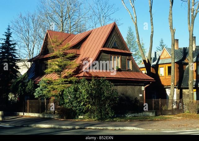 Zakopane poland timber stock photos zakopane poland timber stock images alamy - Traditional polish houses wood mastership ...