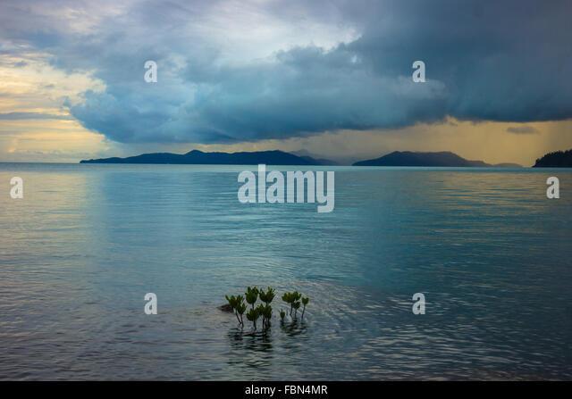Storm over Whitsunday Island - Stock Image