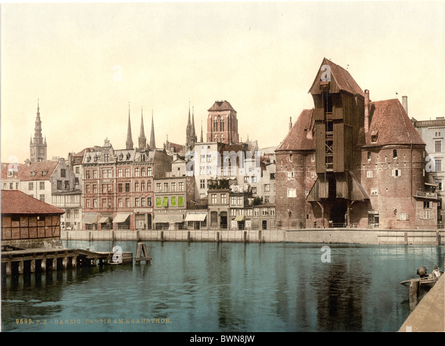 Krantor Danzig West Prussia formerly Germany Europe German Empire Poland Photochrom about 1900 history histo - Stock Image