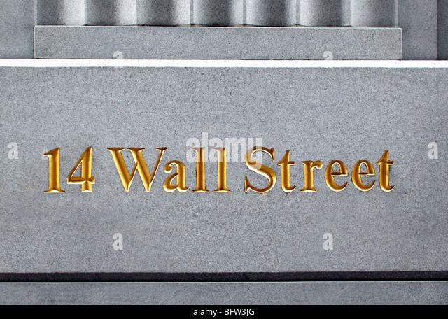 Wall Street sign - Stock-Bilder