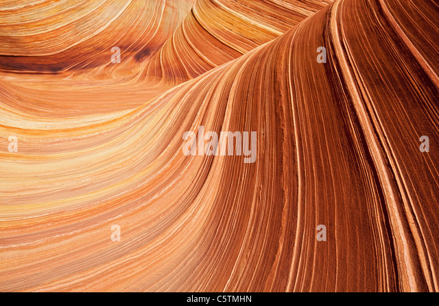 USA, Utah, Coyote Buttes, Wave - Stock Image