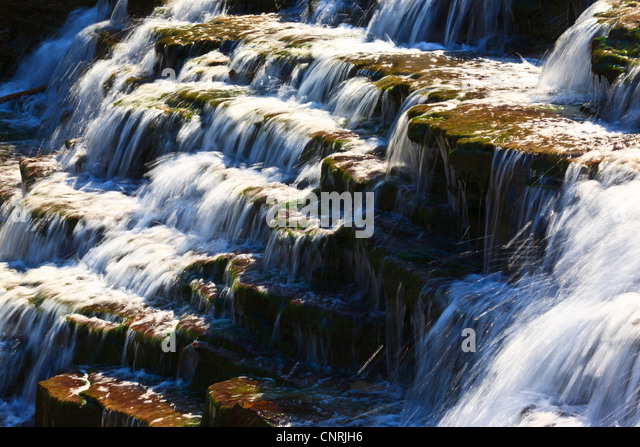 Waterfall close up - Stock Image