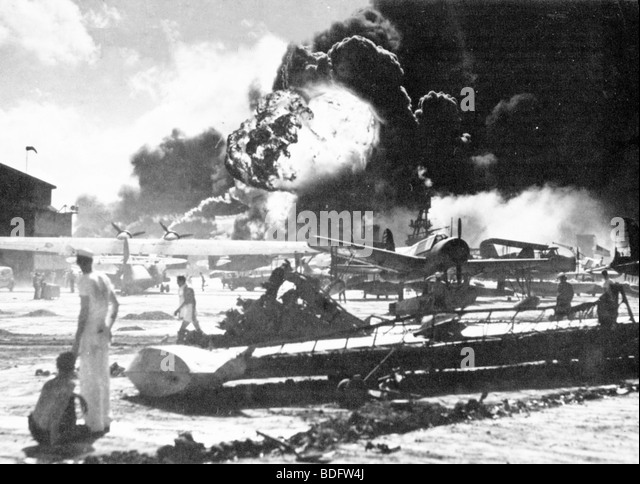 PEARL HARBOUR  Attack by Japan on the US base in Oahu, Hawaii on 7 December 1941 - Stock-Bilder