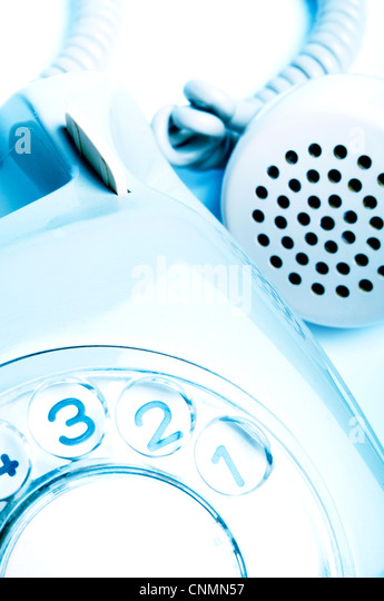 detail of a retro rotary dial telephone - Stock Image