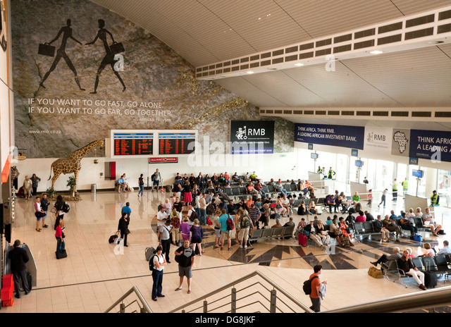 Departure lounge, Johannesburg airport, South Africa - Stock Image