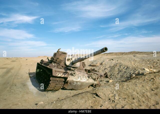 Truck wreckage from Yom Kippur War (1973) near Suez Canal, Sinai Peninsula, Egypt. - Stock Image