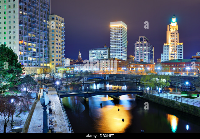 Downtown Providence, Rhode Island, USA. - Stock Image