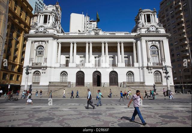 Camara Municipal (Town Hall) in Praca Floriano (Floriano Square), Centro, Rio de Janeiro, Brazil, South America - Stock-Bilder