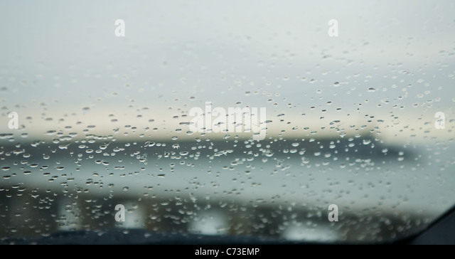 Drops in my windscreen - Stock-Bilder