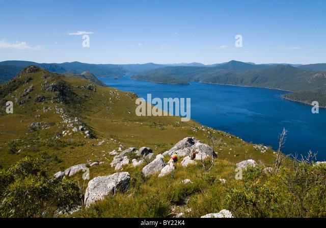Tullah Australia  City pictures : Australia, Tasmania, Tullah. View of Lake Mackintosh from the top of ...