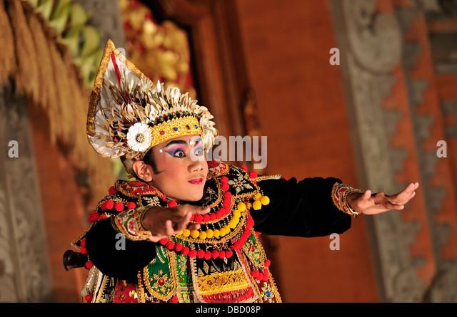 Legong Dance dancer, Ubud, Bali, Indonesia, Asia - Stock Image