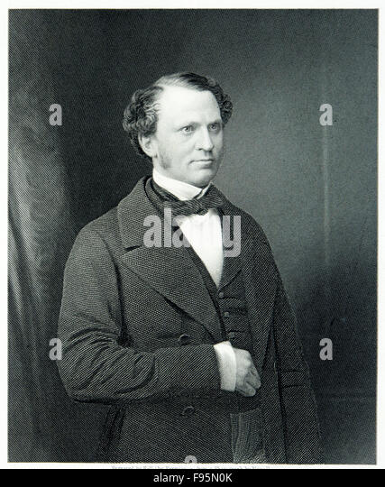 The Right Honourable Edward Henry Stanley, Earl Of Derby. - Stock Image