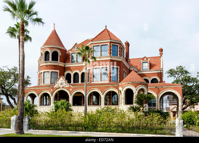 The historic Moody Mansion or Willis-Moody Mansion, Broadway, Galveston, Texas, USA - Stock Image