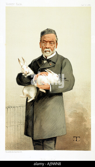 Louis Pasteur French chemist and founder of modern bacteriology 1887  - Stock Image
