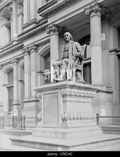 Memorial for Benjamin Franklin, 1910 - Stock Image
