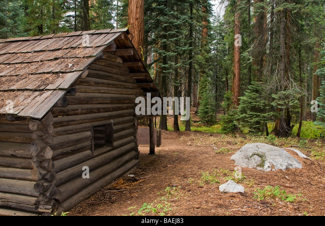 Cabin woods usa stock photos cabin woods usa stock for Log cabin sequoia national park