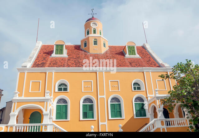 Fort Church Museum former protestant church at Fort Amsterdam Willemstad Curacao - Stock Image
