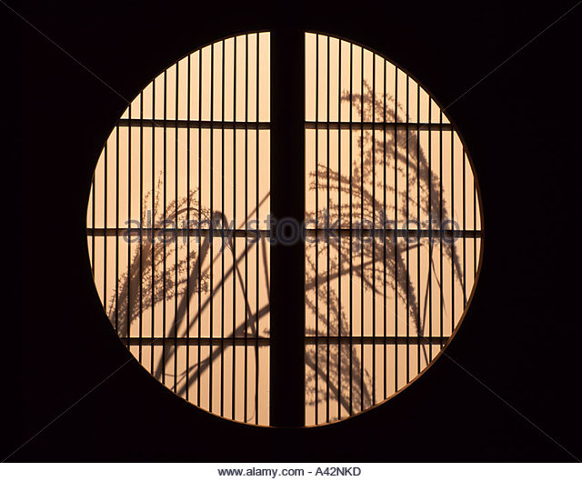 Japanese window round stock photos japanese window round for 12 round window