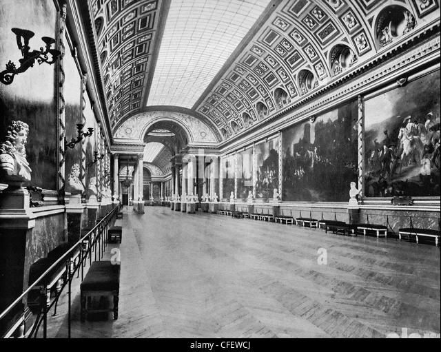 Gallery of Battles, Versailles, France, circa 1894 - Stock Image