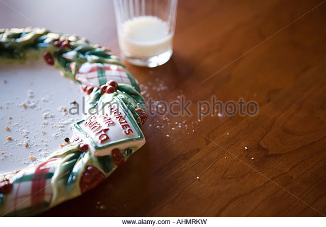 Christmas cookie plate - Stock Image