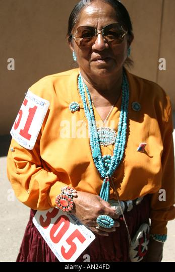 Albuquerque New Mexico State Fair Navajo Native American Indian Village T - Stock Image