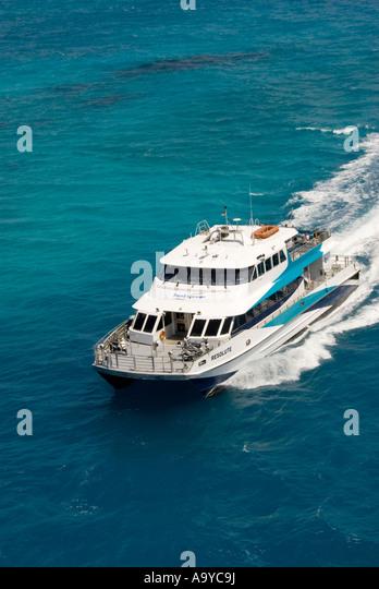 Bermuda fast ferry from Royal Naval Dockyard - Stock Image