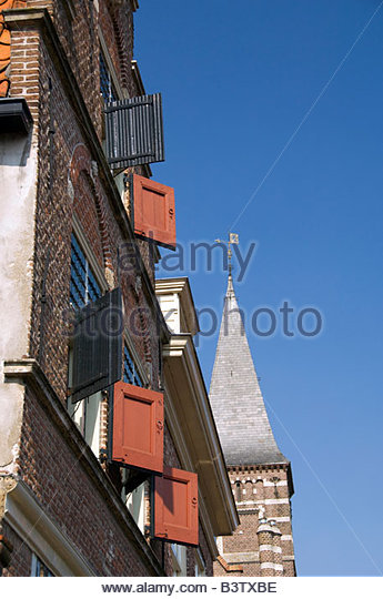 Europe, The Netherlands (aka Holland). Medieval cheese producing town of Edam. - Stock Image