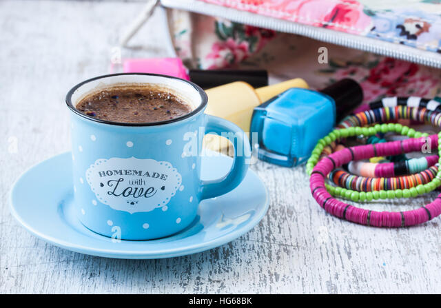 Turkish coffee with female concept - Stock Image