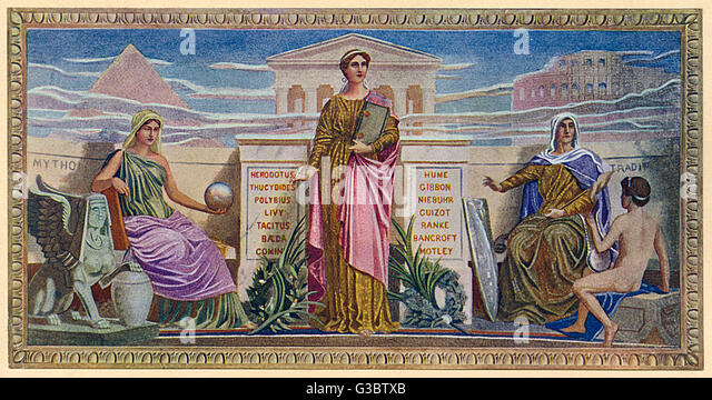 Washington DC, USA - Mural - 'The Mosaic Panels' by Frederick Dielman (1847-1935). Found in the Library - Stock-Bilder
