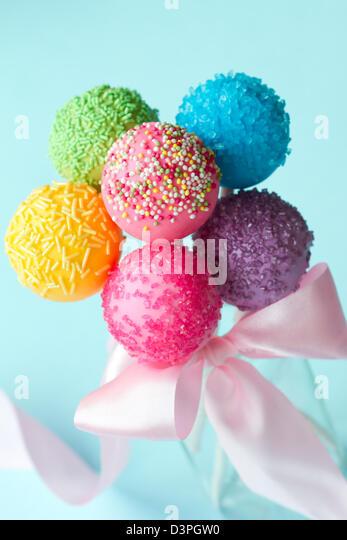 Cake pops - Stock Image