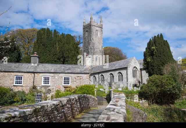 Church of St Nonna in Altarnun, Cornwall, England, UK - Stock Image