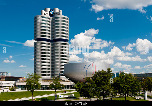Munich - The BMW Museum in Olympiapark, Munich, Germany - Stock Image