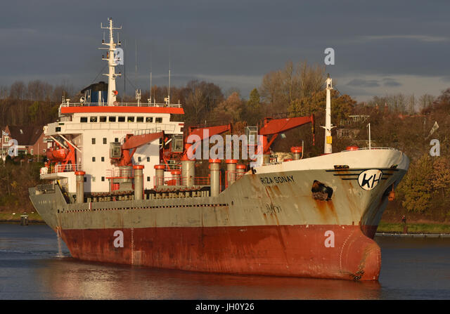 Genral Cargo Ship Riza Sonay - Stock Image