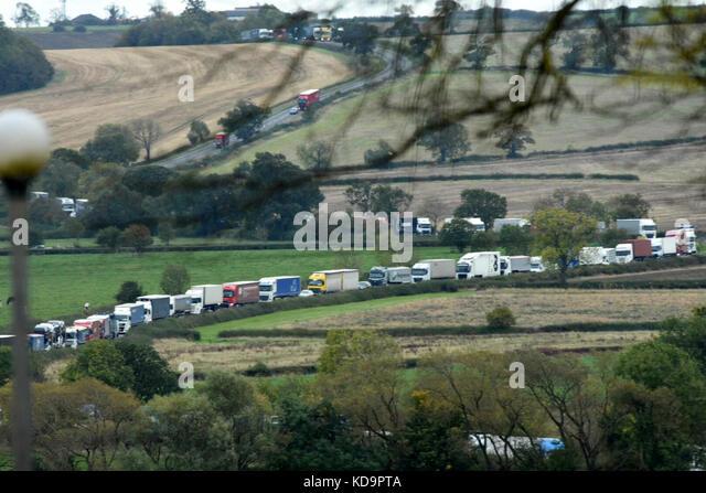 A606 Melton Mowbrey Burton Lazars: October 10th 2017. A1 shut after fatal crash involving car and lorry near Oakham - Stock Image