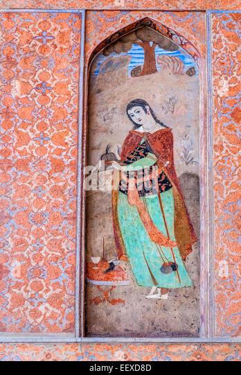 Ali Qapu palace, Isfahan, Iran - Stock Image
