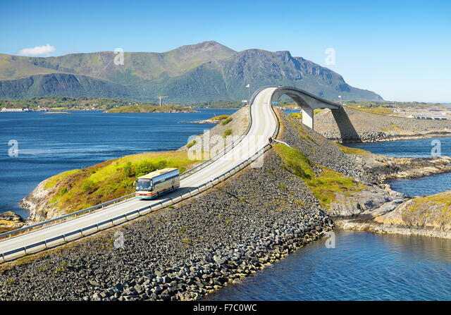 The Atlantic Road More og Romsdal, Norway - Stock Image