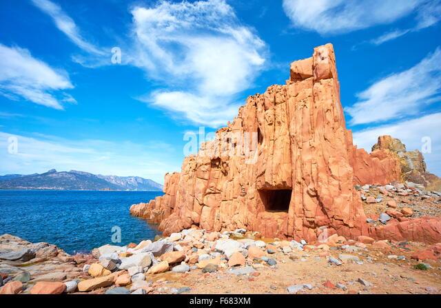 Arbatax, Red Rocks, Golfo di Orosei, Sardinia Island, Italy - Stock-Bilder