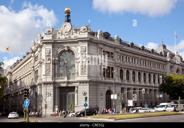 Spain bank stock photos spain bank stock images alamy for Banco santander oficina central madrid