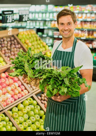 grocery clerk stock photos  u0026 grocery clerk stock images