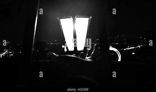 darkness, To reach, enlightenment, hope, dreams, nightmares - Stock Image