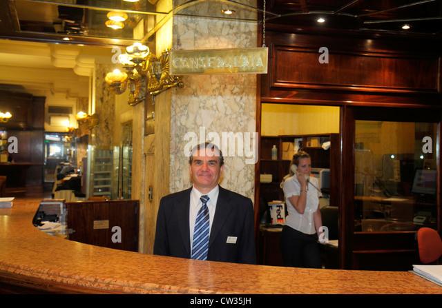 Argentina Buenos Aires Avenida de Mayo Castelar Hotel & Spa boutique hotel theater district theatre historic - Stock Image