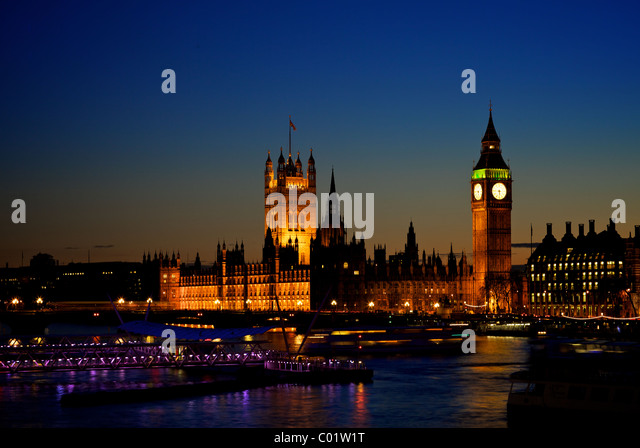 Big Ben and the houses of Parliament at twilight - Stock Image