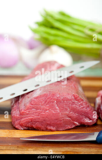 raw beef and pork ribs - Stock Image