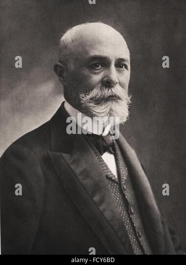 portrait of antoine henri becquerel 1852 1908 physicist - Stock Image