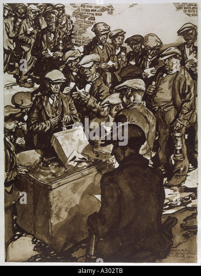 Miners Vote To Strike - Stock Image