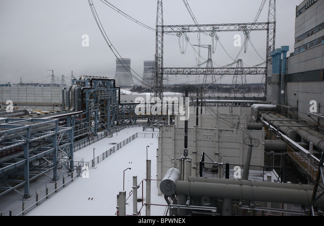 Kalinin Nuclear Power Station - Stock Image