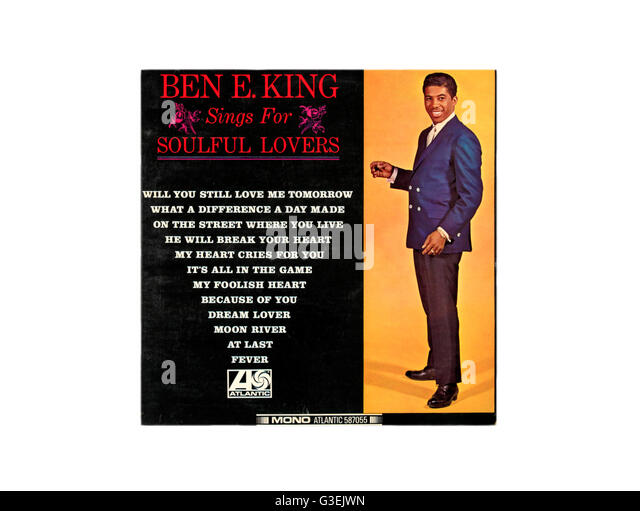Ben E King Sings for Soulful Lovers album cover. - Stock Image