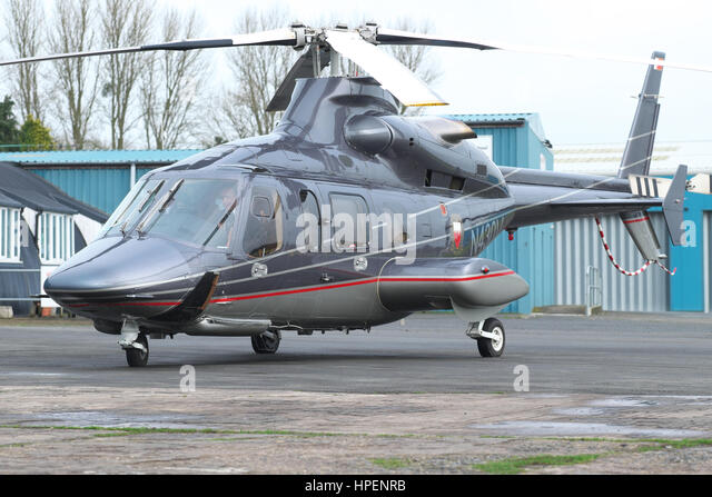 Bell 430 helicopter used by the Bahrain Royal Flight and based in the UK - Stock Image