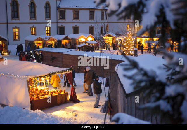 christmas market in Bavaria, Germany - Stock Image