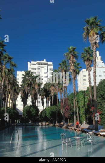 Miami Florida fl south beach delano hotel swimming pool - Stock Image